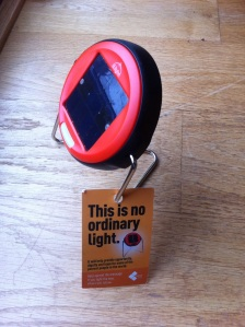 Solar light with tag story