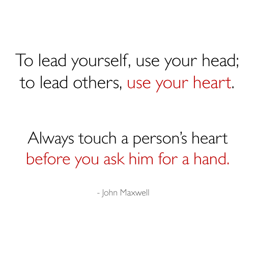 to-lead-yourself-use-your-head-to-lead-others-use-your-heart-always-touch-a-persons-heart-before-you-ask-him-for-a-hand-john-maxwell-teamwork-quote